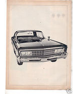 1966 CHRYSLER IMPERIAL VINTAGE CAR AD 2-PAGE - $9.25