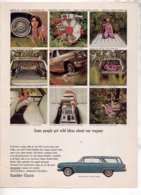 1965 1966 RAMBLER CLASSIC 770 STATION WAGON CAR AD