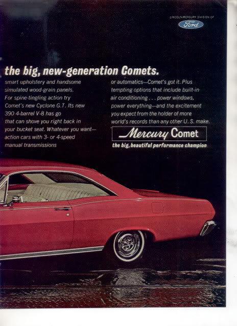 1966 MERCURY COMET VINTAGE CAR AD 4-PAGE