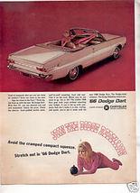 1966 DODGE DART VINTAGE CAR AD - $9.99