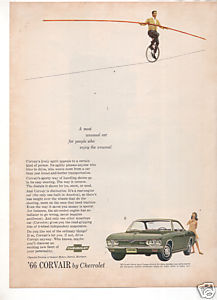 1966 CHEVY CORVAIR VINTAGE CAR AD