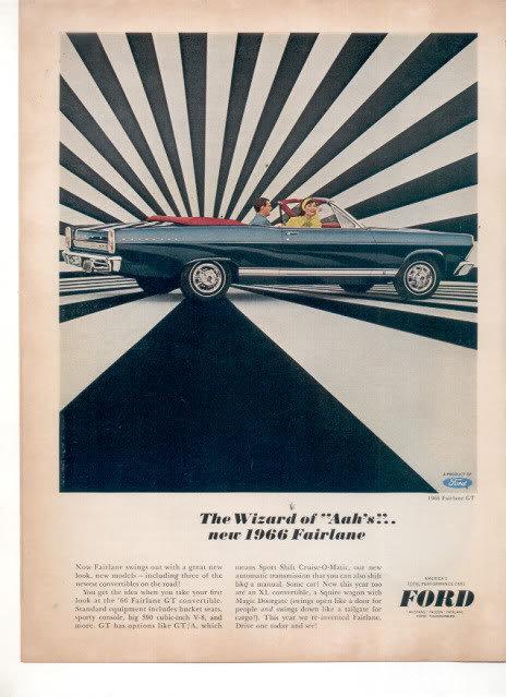 1966 FORD FAIRLANE VINTAGE CAR AD