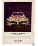 1965  PONTIAC GTO VINTAGE CAR AD - $12.74