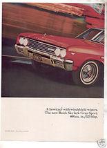 1965 1966 Buick Skylark Gran Sports Vintage Car Ad Red - $8.49