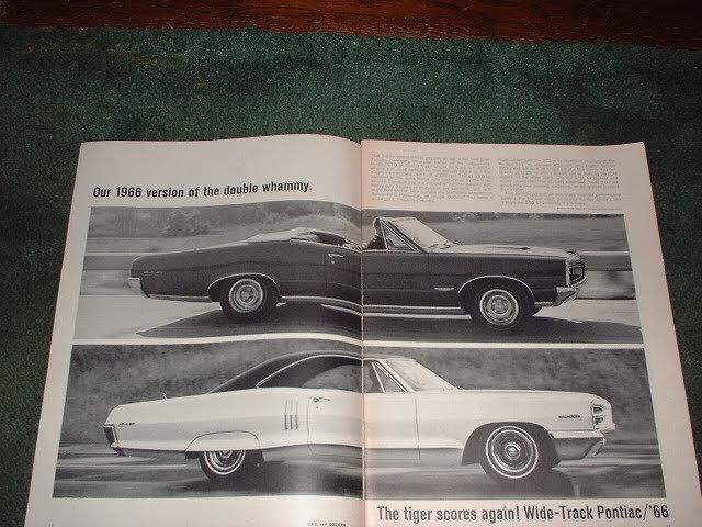 1966 PONTIAC GTO 2+2 TEMPEST VINTAGE CAR AD 4-PAGE