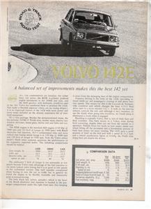 1971  VOLVO 142E 142 E ROAD TEST AD 3-PAGE
