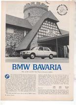 1971 1972 BMW BAVARIA VINTAGE ROAD TEST AD 4-PAGE - $8.99
