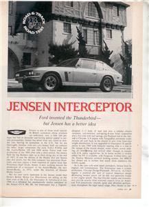 1971 1972 JENSEN INTERCEPTOR ROAD TEST AD 4-PAGE