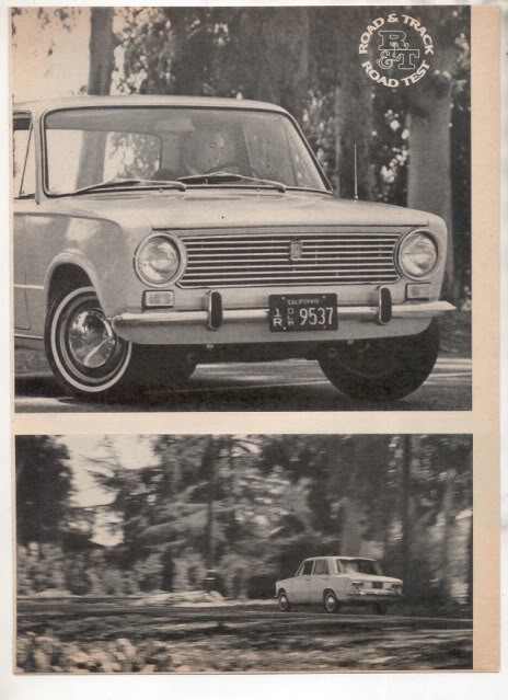 1967  FIAT 124 VINTAGE ROAD TEST AD 4-PAGE