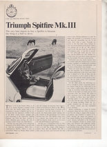 1967  TRIUMPH SPITFIRE MK III ROAD TEST AD 5-PG - $8.99
