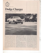 1967 1968 DODGE CHARGER VINTAGE ROAD TEST AD 5-PAGE - $12.99