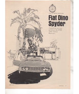 1967 1968 FIAT DINO SPYDER ROAD TEST AD 4-PAGE - $8.99