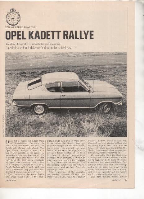 Opelkadettrallyeroadtest1967page1