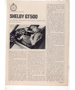 1967 1968 MUSTANG SHELBY GT500 GT 500 ROAD TEST AD 6-PG - $13.99