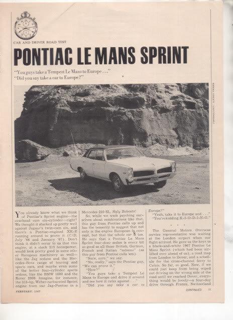 Pontiaclemanslemansroadtest1967p 1