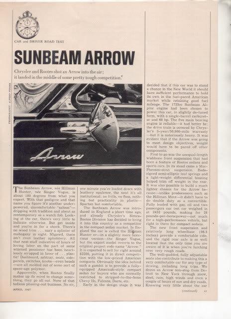 Sunbeamarrowroadtest1967page1