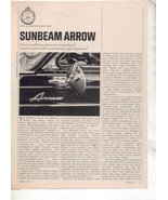 1967 1968 SUNBEAM ARROW VINTAGE ROAD TEST AD 4-PAGE - $8.99