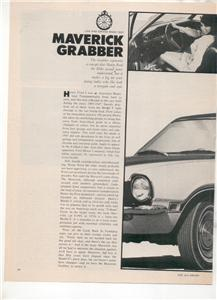 1970 1971 MAVERICK GRABBER VINTAGE ROAD TEST AD