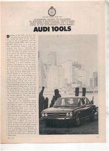 1970 1971 AUDI 100LS 100 LS VINTAGE ROAD TEST AD 5-PAGE