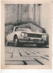 1970  PEUGEOT 504 VINTAGE ROAD TEST 5-PAGE