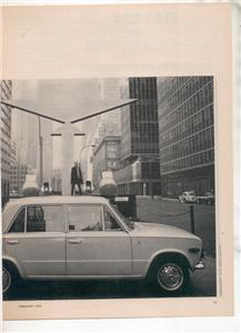 1970  FIAT 124 VINTAGE ROAD TEST AD 5-PAGE
