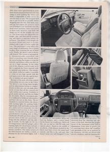 1980 VOLVO GL VINTAGE ROAD TEST AD 6-PAGE