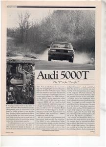 1980 AUDI 5000T 5000 T ROAD TEST AD 5-PAGE