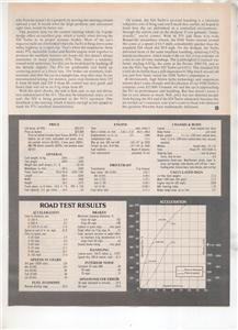 1980 PORSCHE 924S 924 S TURBO ROAD TEST AD 3-PAGE