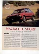 1980 Mazda Glc Sport Road Test Ad 4-PAGE - $8.99