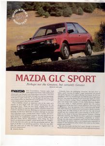 1980  MAZDA GLC SPORT ROAD TEST AD 4-PAGE