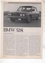 1980  BMW 528i 528 i ROAD TEST AD 6-PAGE - $8.99