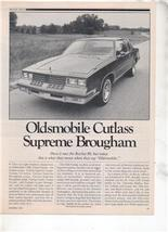 1980 OLDSMOBILE CUTLASS SUPREME BROUGHAM ROAD TEST - $8.99