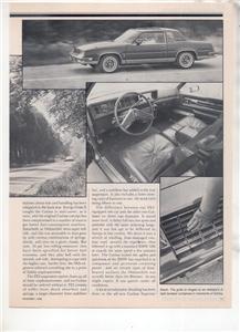 1980 OLDSMOBILE CUTLASS SUPREME BROUGHAM ROAD TEST