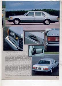 1980  MERCEDES BENZ 380 SEL ROAD TEST AD 5-PAGE