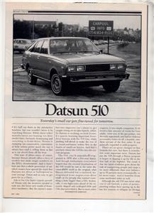 1980  DATSUN 510 VINTAGE ROAD TEST AD 5-PAGE
