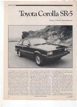 1980 TOYOTA COROLLA SR5 SR-5 ROAD TEST AD 6-PAGE - $8.99