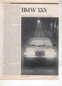 1980 BMW 320i 320 i ROAD TEST AD 5-PAGE