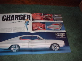 1966 1967 DODGE CHARGER VINTAGE CAR AD 2-PAGE - $11.99