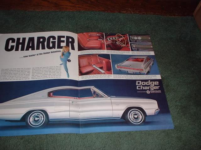 1966 1967 DODGE CHARGER VINTAGE CAR AD 2-PAGE