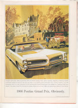 1966 PONTIAC GRAND PRIX VINTAGE CAR AD - $8.99