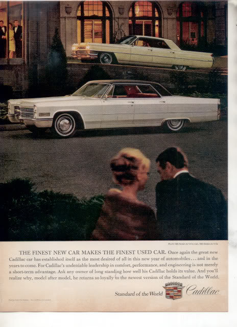 1966 1964 CADILLAC SEDAN DE VILLE CAR AD