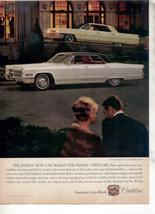 1966 1964 CADILLAC SEDAN DE VILLE CAR AD - $8.99