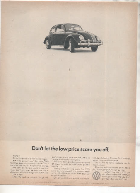 1966 VOLKSWAGEN BUG BEETLE CAR AD