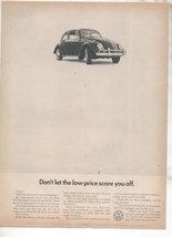 1966 VOLKSWAGEN BUG BEETLE CAR AD - $7.99