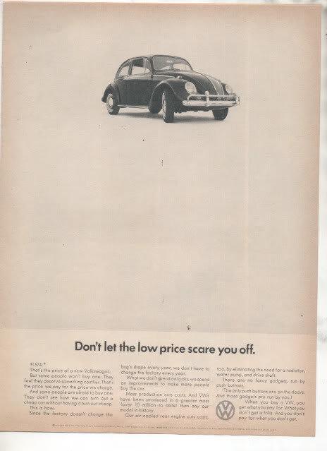1966 VOLKSWAGEN BUG BEETLE CAR AD