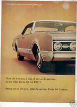 1967 OLDSMOBILE DELTA 88 VINTAGE CAR AD 2-PAGE - $11.99