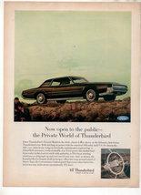 1967 Ford Thunderbird Vintage Car Ad - $7.99