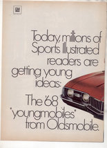 1968 OLDSMOBILE CUTLASS S VINTAGE CAR AD 2-PAGE - $8.99