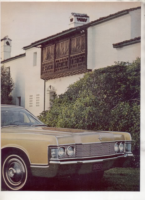 1968 LINCOLN CONTINENTAL VINTAGE CAR AD 2-PAGE