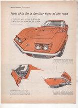 1968 CHEVY CORVETTE VINTAGE CAR AD - $8.99